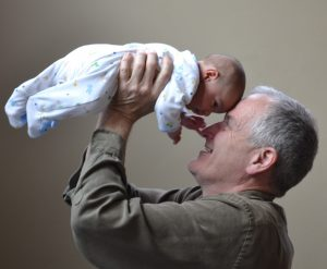 grandfather adopts a baby